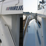 Fairline boat cleaned using boatbuddy boat cleaning products sq